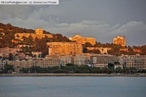France: Cannes luxury apartments overlooking French Riviera (Cote D'Azur)