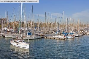 Spain: Barcelona's Darsena Nacional marina at Port Vell