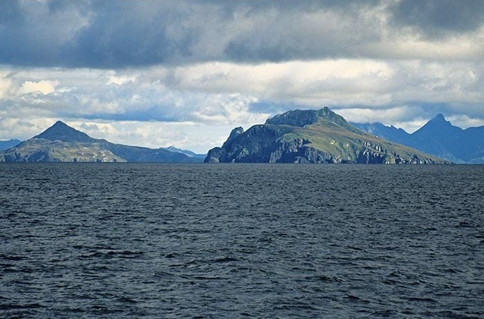 Cape Horn, from the south in the Drake Passage, southern most point of South America