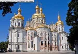 Cathedral of the Dormition at the Monastery of Caves in Kiev, Ukraine.