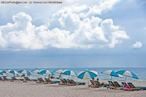 Alabama Gulf Coast's Orange Beach white sand and vacationers.