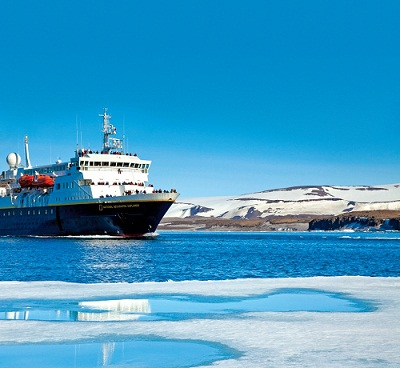 Lindblad's National Geogrphic Explorer.  Photo courtesy of Lindblad Expeditions