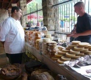 Chef Rafael Peterkovic shops in Kotor, Montenegro.