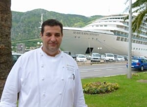 Chef Rafael Peterkovic and the Seabourn Odyssey.