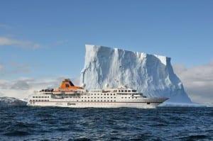 MS Hanseatic in Antarctica (photo courtesy of Hapag-Lloyd)