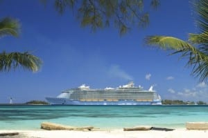 Allure of the Seas at port in Nassua Bahamas