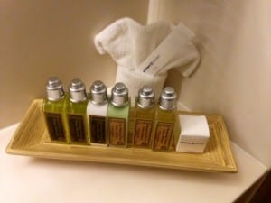 L'Occitane toiletries in staterooms