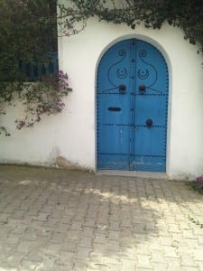 Blue door in Sidi Bousaid