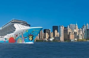 NCL's new ship, the Breakaway- Image courtesy of NCL