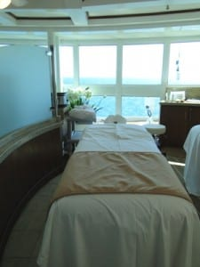 The Sanctuary Cabanas offer stunning ocean views in the treatment room.