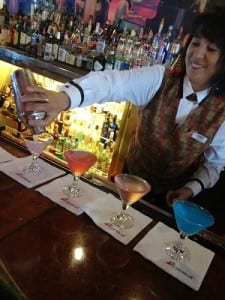 Cherry prepares the martini flight
