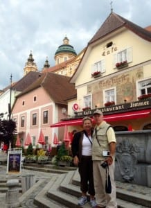 Chet and Cindy in Melk, Austria