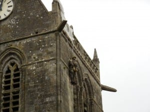 Church in St Marie Eglise where paratroopers landed