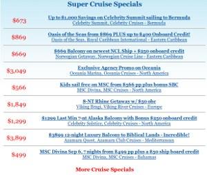 Cruise Super Specials