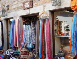 Bazaar shops in the bar street