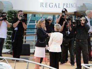 Regal Princess naming ceremony