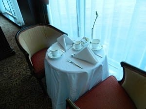 A table set for afternoon high tea