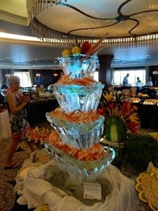 The tower of ice at the jazz brunch