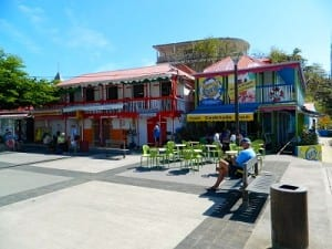 The shopping area on Iles des Saintes