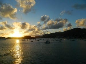 A lovely sunset in St. Thomas