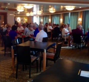 Duplicate bridge packs the room