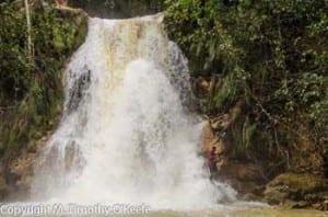 Base of El Limon waterfall.