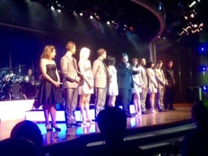Everyone associated with the new production was honored after the show