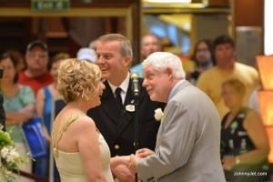 Fran Golden and David G. Molyneaux were married last week on the Regal Princess