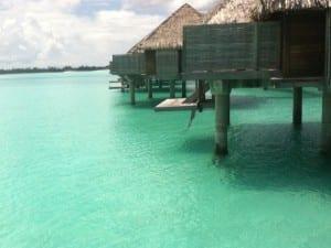 French Polynesia Bora Bora Four Seasons bungalows on lagoon