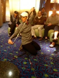 Golf clinic on the Crystal Serenity