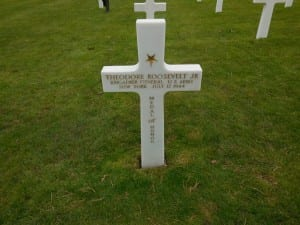 Grave of Theodore Roosevelt Jr at Omaha Beach cemetery