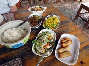 Our lunch at Yung Kao near Chiag Saen in Thailand's far north