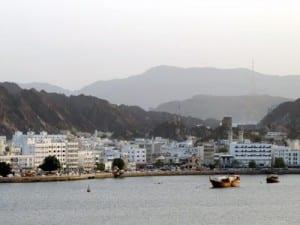 Muscat, Oman, as we depart aboard Nautica