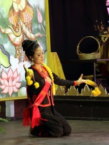 Thai classical dancer performs for visitors