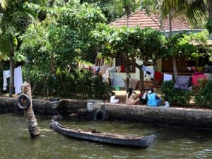 Life along canals in Kerala's backwaters appears timeless