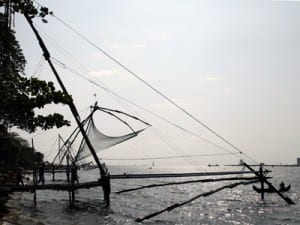 These iconic fishing nets in Cochin are based on a Chinese design from ancient times