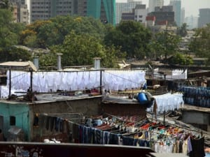 Dhobi Ghat, where Dhobiwallahs wash and dry Bombay's Laundry.