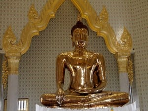 The Golden Buddha Temple in Bangkok's Chinatown shelters this gleaming icon