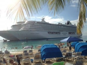 The Crystal Serenity at the Grand Turk Cruise Center