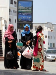 Variety in women's fashion in traditional, Muslim Oman