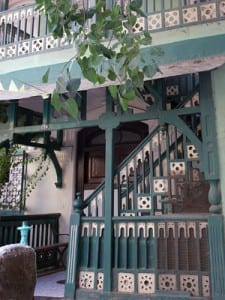 """Details of a """"Portuguese Bungalow"""" in the Khotachiwadi neighborhood"""