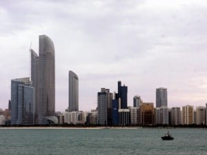 The Abu Dhabi skyline sprouts a forest of modern high-rises