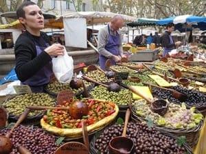Olive vendor in Uzez Market