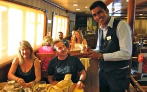 Food is good aboard Panorama--and so is the service