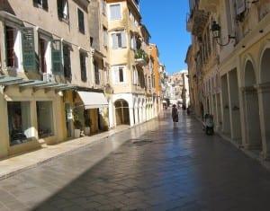 A Corfu street scene