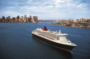 The Queen Mary 2 in New York