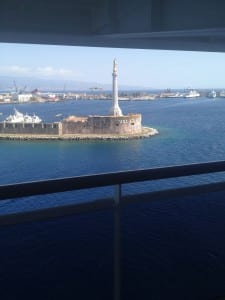 Leaving Messina Harbor for Tunis
