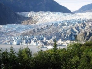 Pristine nature at Mendenhall Glacier