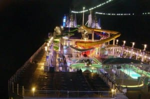 The Epic's top deck at night. (Photo by Robert W. Bone)