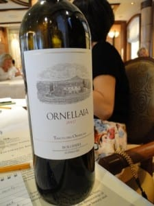 Ornellaia is so expensive that taste tests are rare, but the Royal Princess offers them.
